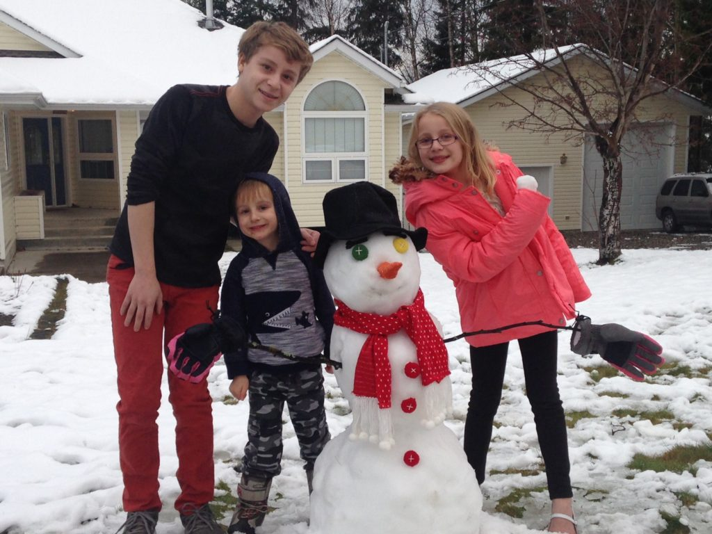 Family Snowman - Frosty the snowman